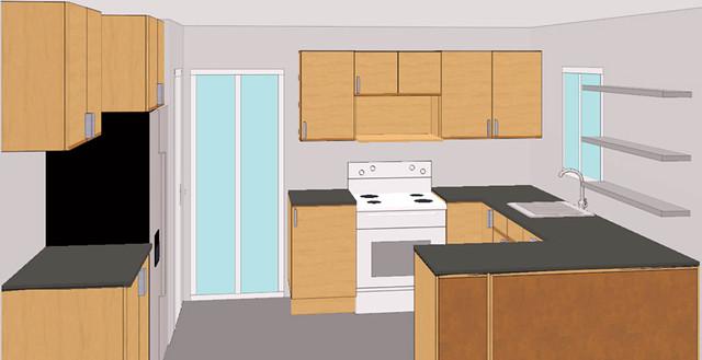 Современная планировка кухни